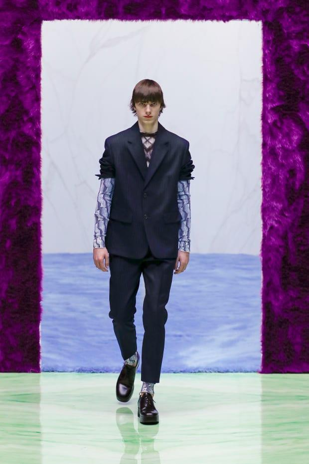 <p>A look from the Prada Fall 2021 menswear collection. Photo: Courtesy of Prada</p>