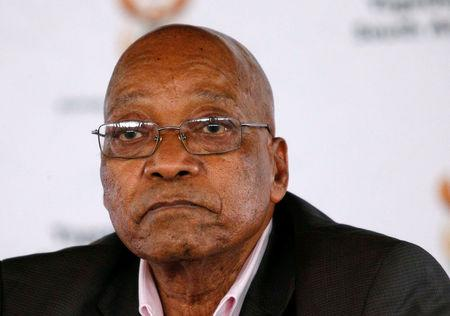 FILE PHOTO: South Africa's President Jacob Zuma reacts during the launch of a social housing project in Pietermaritzburg
