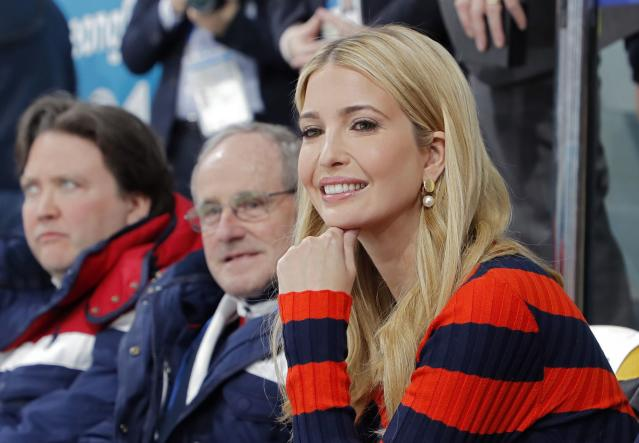 <p>U.S. President Donald Trump's daughter and senior White House adviser, Ivanka Trump attends the men's final. REUTERS/Eric Gaillard </p>