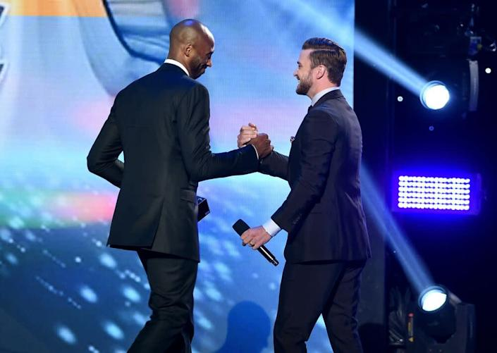 Justin Timberlake and Kobe Bryant | Kevin Winter/Getty