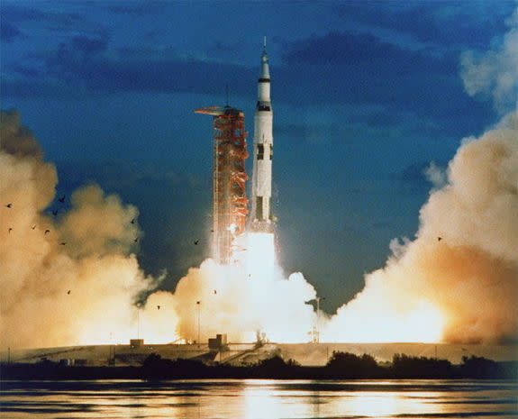 The Apollo 4 (Spacecraft 017/Saturn 501) space mission was launched from Pad A, Launch Complex 39, Kennedy Space Center, Fla., on Nov. 9, 1967
