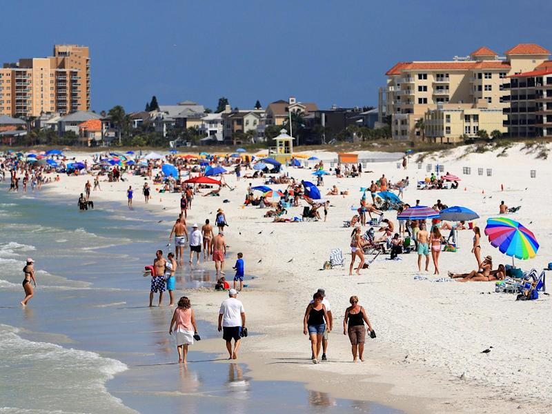Clearwater beach in Florida: 2020 Getty Images