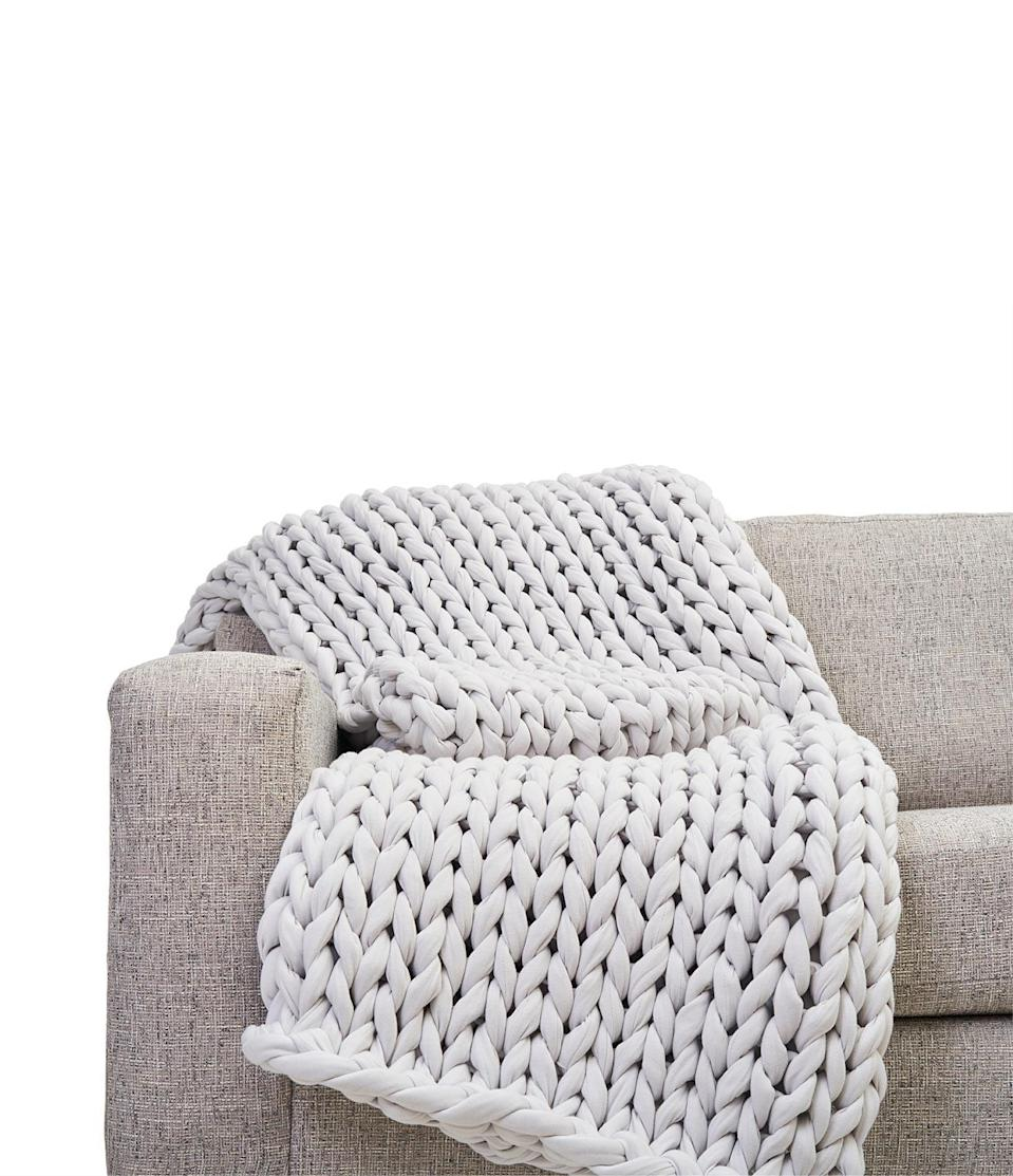 <p>You can't go wrong with this versatile <span>Bearaby Cotton Napper</span> ($249) in light gray.</p>