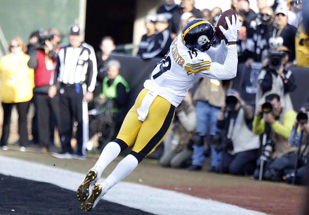 d8881f8b277 Steelers WR JuJu Smith-Schuster shows off incredible footwork on TD catch