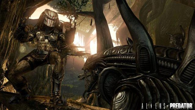 A promotion image for the 2010 <i>Aliens vs. Predator</i> video game. (Image: 20th Century Fox)