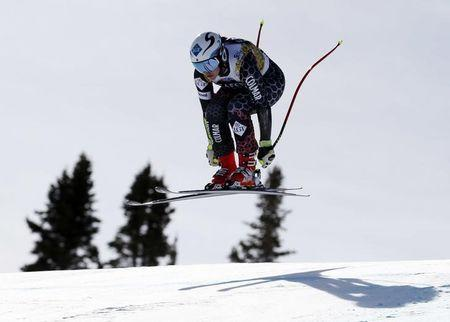 Mar 14, 2017; Aspen, CO, USA; Tina Weirather of Liechtenstein during training for the women's downhill alpine skiing race in the 2017 Audi FIS World Cup Finals at Aspen Mountain. Mandatory Credit: Jeff Swinger-USA TODAY Sports