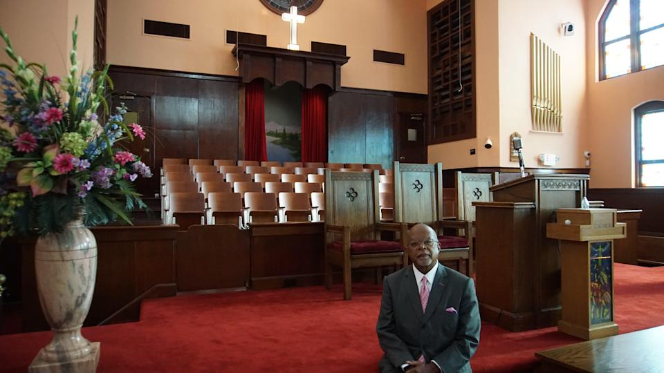 "Henry Louis Gates Jr., seen in Atlanta's historic Ebenezer Baptist Church, is the executive producer, writer and host of PBS' ""The Black Church: This Is Our Story, This Is Our Song."""
