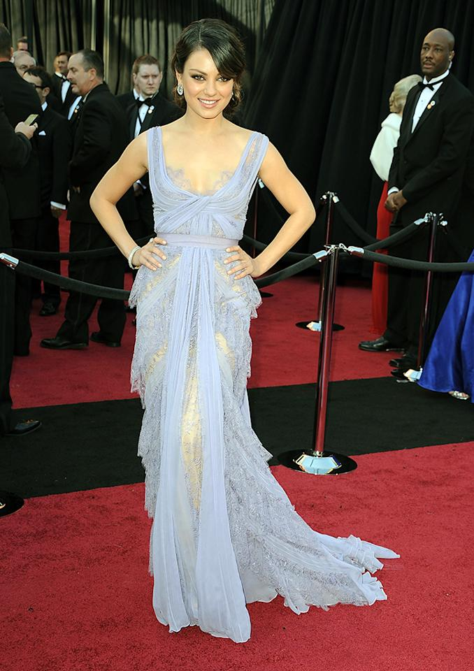 Mila Kunis arrive at the 83rd Annual Academy Awards at the Kodak Theatre on February 27, 2011 in Hollywood, California.