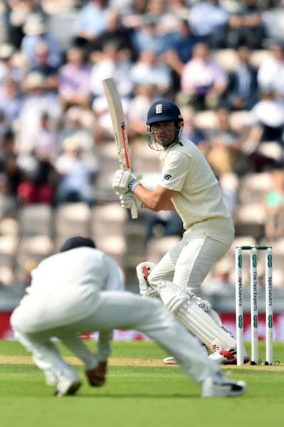 England's Alastair Cook was caught by India's captain Virat Kohli as England collapsed