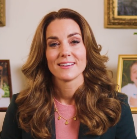 Kate Middleton on a zoom call