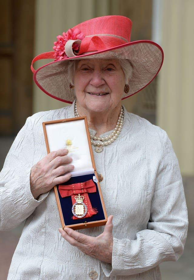 Baroness Williams after she was made a Member of the Order of the Companion of Honour in 2017
