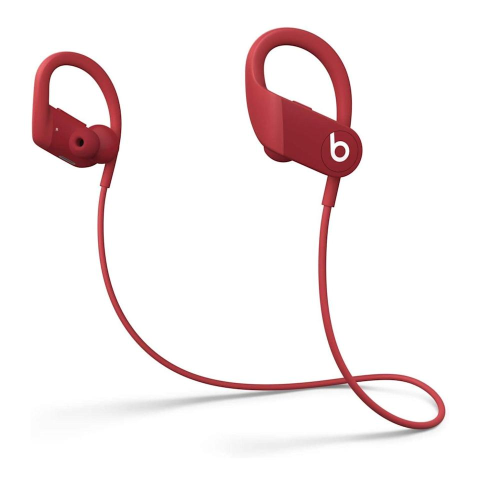 """<p><strong>Beats</strong></p><p>amazon.com</p><p><strong>$149.94</strong></p><p><a href=""""https://www.amazon.com/dp/B0858MZFBC?tag=syn-yahoo-20&ascsubtag=%5Bartid%7C2089.g.864%5Bsrc%7Cyahoo-us"""" rel=""""nofollow noopener"""" target=""""_blank"""" data-ylk=""""slk:Shop Now"""" class=""""link rapid-noclick-resp"""">Shop Now</a></p><p>The Powerbeats wireless neckband earbuds are among the best of their kind. In addition to iconic design, impeccable comfort and grin-inducing sound, they deliver up to a whopping 15 hours of wireless tunes between charges. We also like that they use a Lightning connector for replenishing its battery!</p><p>With Apple's H1 chip on board, the Powerbeats earbuds will effortlessly connect to an iPhone, an iPad, or a Mac. Conveniently placed volume and playback controls round up the product's key features. </p><p><strong>More: </strong><a href=""""https://www.bestproducts.com/tech/gadgets/a31875736/powerbeats-wireless-earphones-review/"""" rel=""""nofollow noopener"""" target=""""_blank"""" data-ylk=""""slk:Our Review of the Powerbeats"""" class=""""link rapid-noclick-resp"""">Our Review of the Powerbeats</a></p>"""