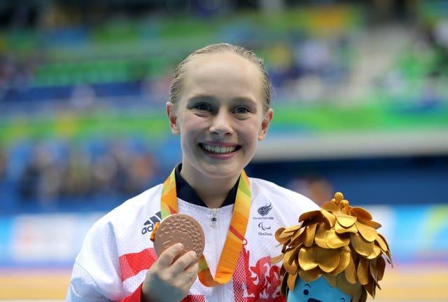 Ellie Robinson with her bronze medal in 2016 at the Rio Paralympics