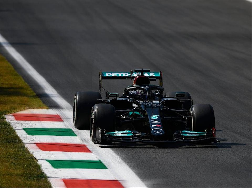 Lewis Hamilton in action at the Formula One Italian Grand Prix (Getty Images)