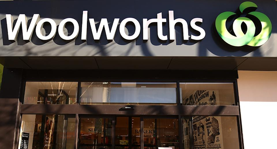 Woolworths sign.