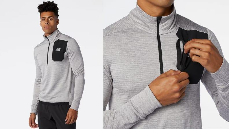 A great zip for running in cold weather.