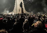 """<p>Reykjavík residents visit<span class=""""redactor-unlink""""> bonfires</span> set up around the city on New Year's Eve. There are 10 locations (and seven outside of the city) for people to gather to bid adieu to the outgoing year. </p>"""