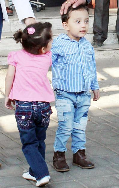 Spotted: Sanjay Dutt and kids