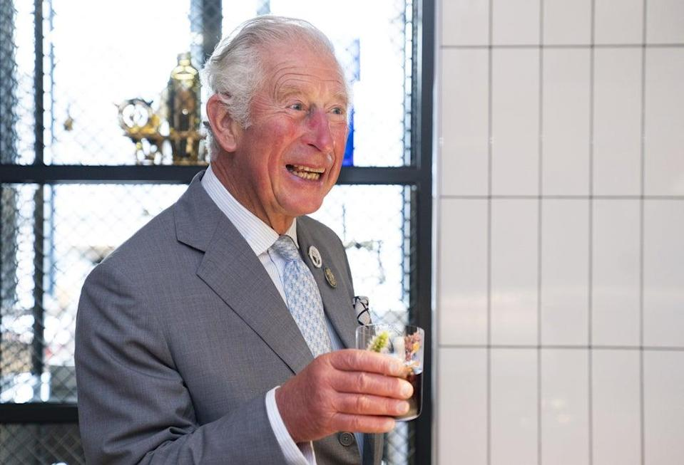 Charles was given a specially-designed cocktail on the visit (Jane Barlow/PA) (PA Wire)