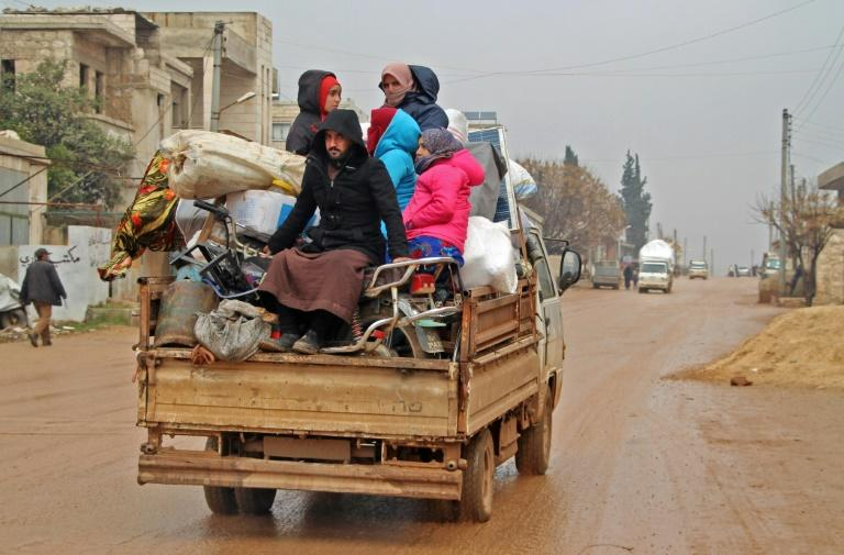 Syrian regime forces were pursuing their offensive in Idlib province, which has killed 300 civilians since December and displaced 520,000 people
