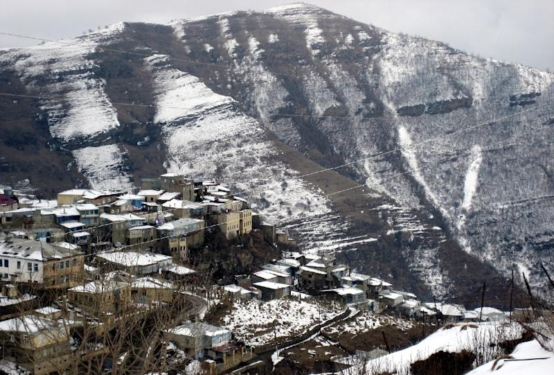 A view of the village of Kubachi in Russia's restive Dagestan region, pictured on March 22, 2007