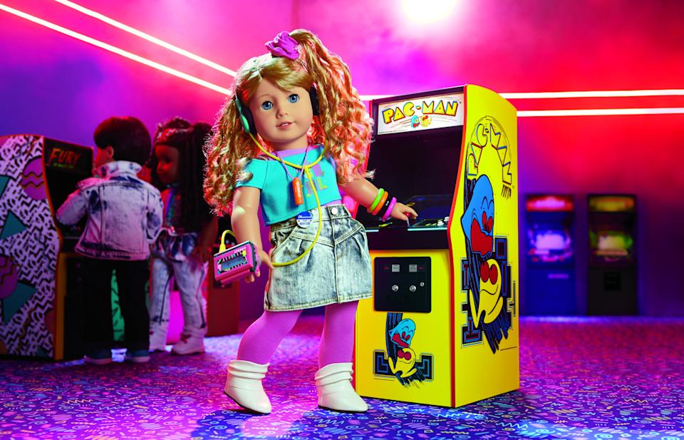 American Girl's newest doll is Courtney Moore, an '80s girl who loves arcade games.  (Photo: American Girl)