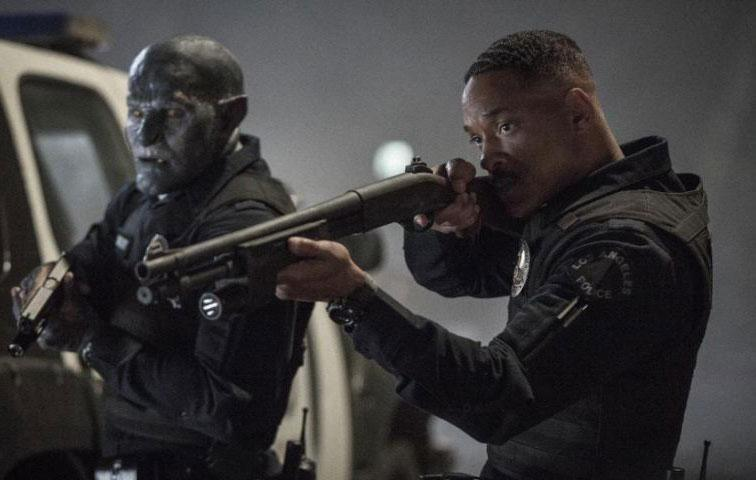 Bright, which is released on the streaming service tomorrow, finds Smith playing a cop who is reluctantly teamed up with the first ever orc to join the LAPD (played by Joel Edgerton), in an alt-universe action fantasy penned by Max Landis and directed by Suicide Squad's David Ayer. Source: Netflix