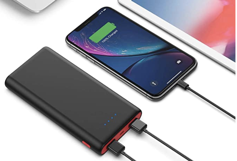 Charge two devices on the go. (Photo: Amazon)