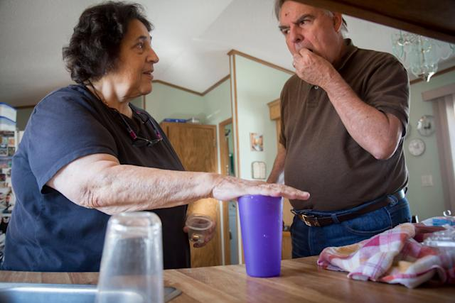 Anne Scherer tried to keep up with her tax firm after her husband was diagnosed with Alzheimer's in 2010, but after five years she gave it up to focus on taking care of him.