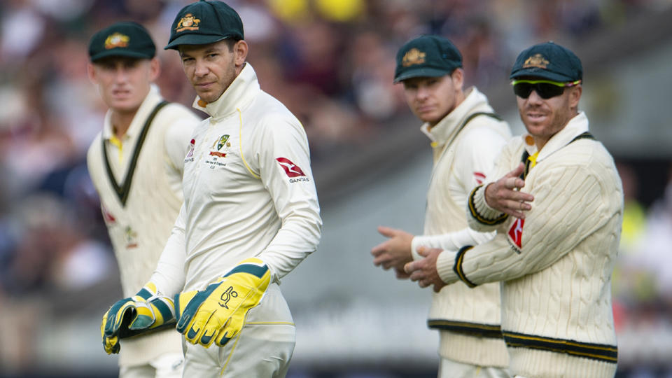 Marnus Labuschagne, Tim Paine, Steve Smith and David Warner, pictured here during the 2019 Ashes series.