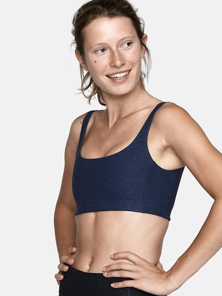 """<p>You can't go wrong with this navy <product href=""""https://www.outdoorvoices.com/products/double-time-bra?variant=17901327109"""" target=""""_blank"""" class=""""ga-track"""" data-ga-category=""""internal click"""" data-ga-label=""""https://www.outdoorvoices.com/products/double-time-bra?variant=17901327109"""" data-ga-action=""""body text link"""">Outdoor Voices Double-Time Bra</product> ($48).</p>"""