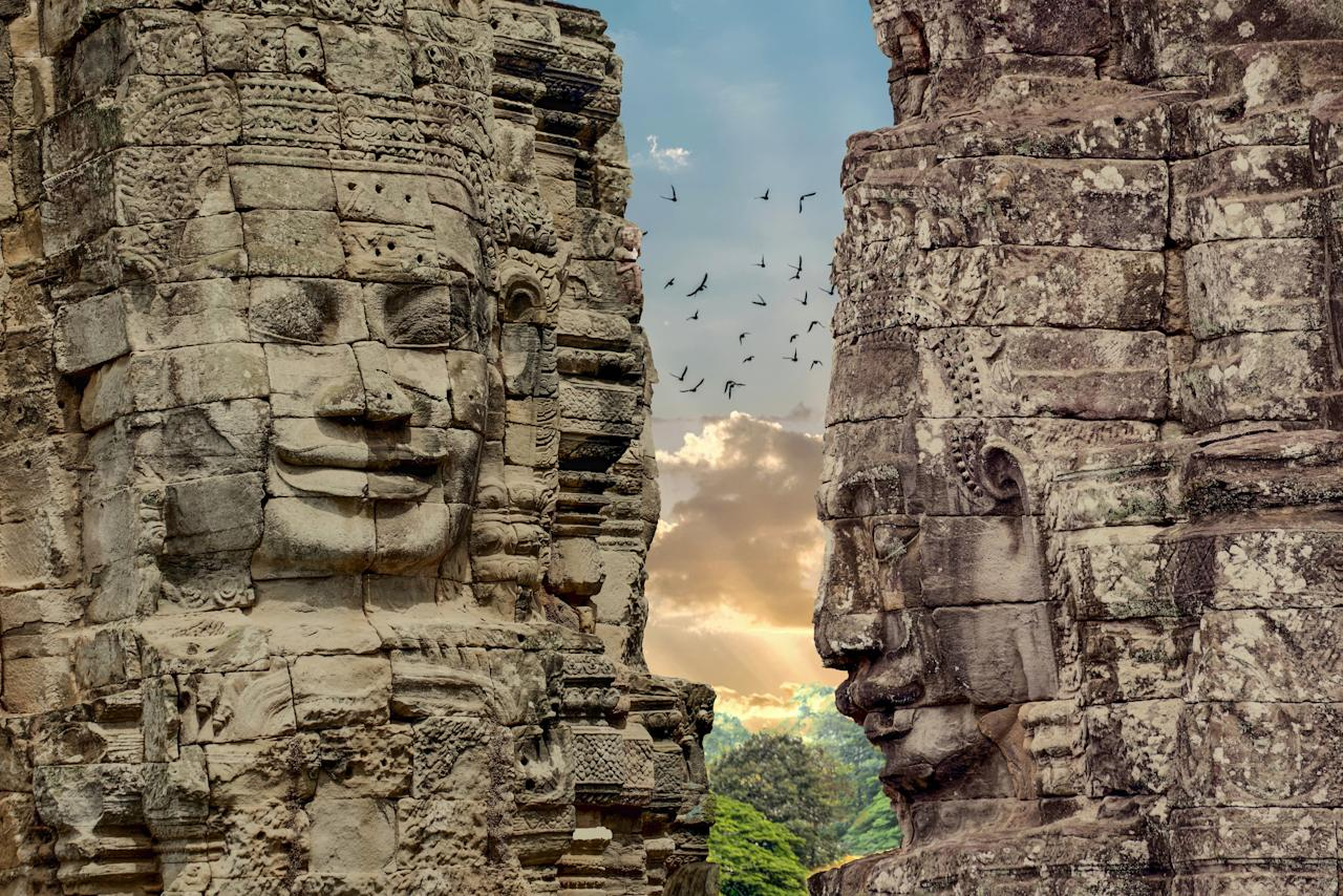 "Cambodia beguiles. Witnessing dawn break over the ancient temples at Angkor Wat in Siem Reap rivals viewing the Taj Mahal or Petra in Jordan. Ancient sites such as the wat contrast with the <a href=""https://www.cntraveler.com/stories/2016-03-07/visiting-phnom-penh-how-i-finally-relaxed-in-a-city-that-scared-me?mbid=synd_yahoo_rss"">modernity of the capital, Phnom Penh</a>, where travelers can meander through temples and tea rooms, even the Royal Palace—that is, when they're not artfully dodging traffic. <a href=""https://www.cntraveler.com/story/why-your-next-trip-to-cambodia-should-go-way-beyond-angkor-wat?mbid=synd_yahoo_rss"">For a different pace of life</a>, the country's southern coast offers a more laid-back experience, with tiny fishing villages on the region's islands. And don't be afraid to wander: There's more to this verdant country than meets the eye. <a href=""https://www.cntraveler.com/gallery/beyond-the-crowds-of-angkor-cambodia?mbid=synd_yahoo_rss"">Venture away from the crowds</a> and you'll meet devout monks, find hidden walled cities, and colorful temples that will awe as much as inspire."