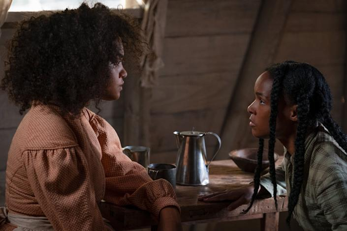"""Kiersey Clemons and Janelle Monáe in """"Antebellum,"""" now available to rent through video-on-demand services. (Photo: Lionsgate)"""