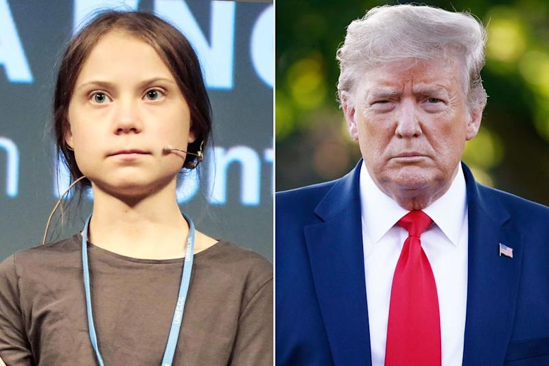 Greta Thunberg and Donald Trump | Miquel Benitez/Getty; Patrick Semansky/AP/Shutterstock