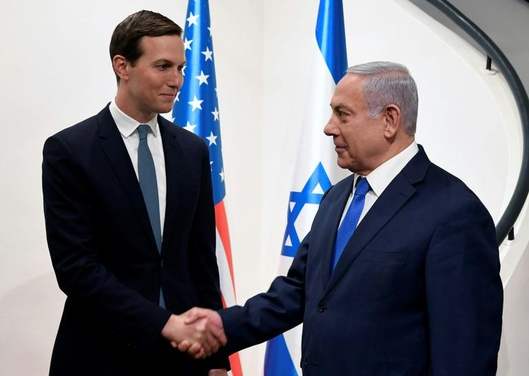 US President Donald Trump's son-in-law and senior adviser Jared Kushner has held repeated meetings with Israeli Prime Minister Benjamin Netanyahu as he has worked on his as yet unpublished peace plan but the Palestinians have frozen all contacts (AFP Photo/Matty Stern)