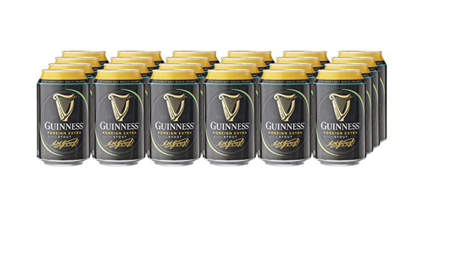 Guinness Foreign Extra Stout Beer Can, 320ml (Pack of 24). (PHOTO: Amazon)