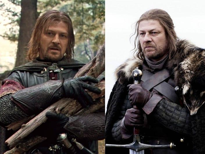 Sean Bean Lord of the Rings The Fellowship of the Ring and Game of Thrones HBO New Line Cinema