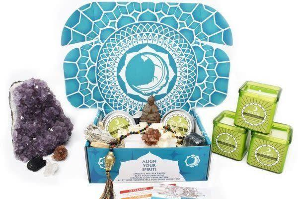 """Starts at $45/month. Each box includes 5 to 7 items like spirit crystals, aromatherapy, bath salts and other """"free spirit"""" gifts. Get <span>25 percent off first month with code <strong>SPIRITED25</strong></span> at checkout."""