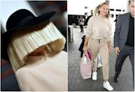 """<p><b>When: March 23, 2017 </b><br>Who knew Sia would turn out to be such a beauty? The 41-year-old was spotted at LAX without her signature blonde face-covering wig! The singer's natural honey tresses flowed just past her shoulders and she opted for a make-up free face. She complemented the laid-back vibe with fitted Kenzo sweatpants and a matching nude sweatshirt, cropped at the waist. Twitter erupted with praise, with fans calling the """"Chandelier"""" songstress everything from incredible to youthful and gorgeous (we couldn't agree more). <i> (Photos: Getty (L)/Splash News (R) </i> </p>"""