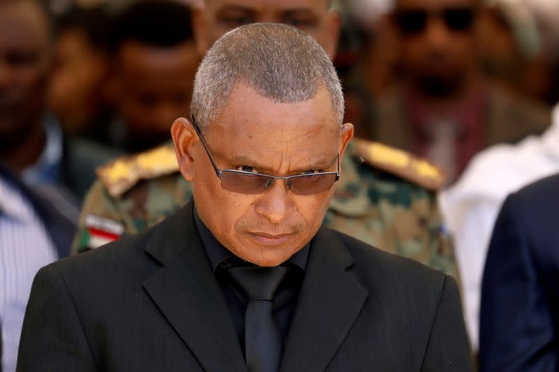 FILE PHOTO: FILE PHOTO: Debretsion Gebremichael, Tigray Regional President, attends the funeral ceremony of Ethiopia's Army Chief of Staff Seare Mekonnen in Mekele