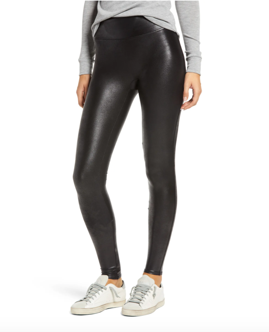 Spanx Faux Leather Leggings in Very Black (Photo via Nordstrom)