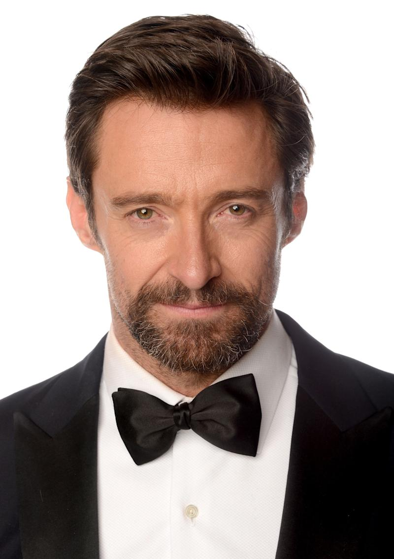 BEVERLY HILLS, CA - JANUARY 13: Actor Hugh Jackman, winner of the Best Performance by an Actor in a Motion Picture - Comedy Or Musical Award for 'Les Miserables' poses for a portrait at the 70th Annual Golden Globe Awards held at The Beverly Hilton Hotel on January 13, 2013 in Beverly Hills, California. (Photo by Dimitrios Kambouris/Getty Images)