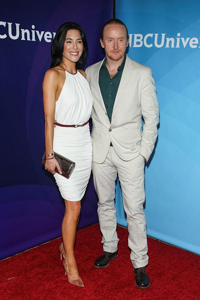 "Jaime Murray and Tony Curran (""Defiance"") attend the 2013 NBC Universal Summer Press Day held at The Langham Huntington Hotel and Spa on April 22, 2013 in Pasadena, California."