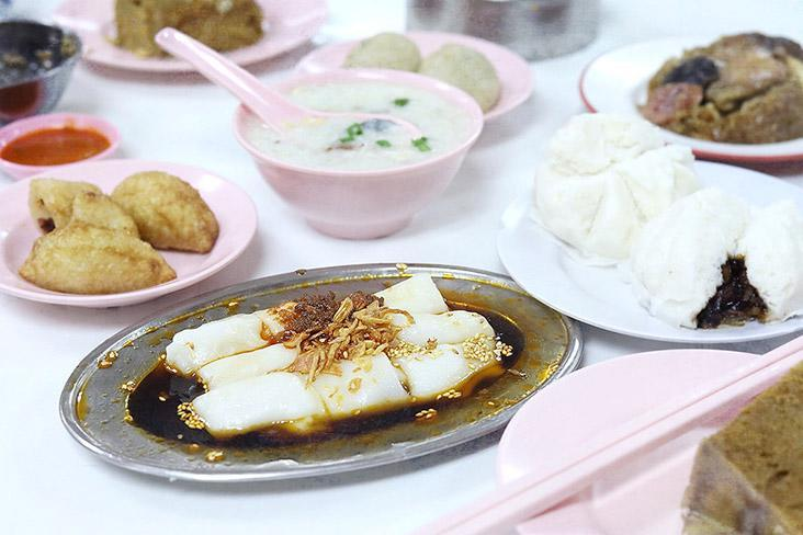 A dim sum spread in Ipoh isn't complete without a platter of freshly made 'chee cheong fun.'