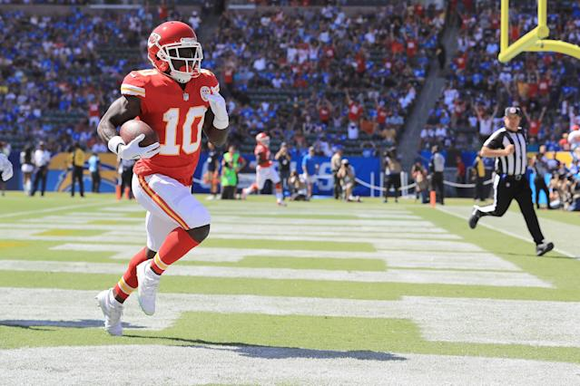 Keep your Chiefs running like The Cheetah on Monday night in Denver. (Photo by Sean M. Haffey/Getty Images)