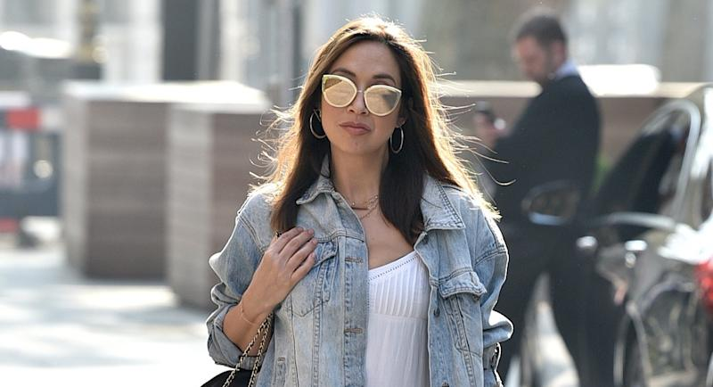 Myleene Klass gave fans a sneak peek at her amazing home as she taught a music lesson via Instagram (Getty Images)