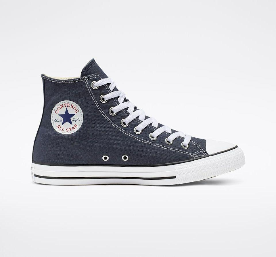 """<p><strong>Converse</strong></p><p>Converse</p><p><strong>$55.00</strong></p><p><a href=""""https://go.redirectingat.com?id=74968X1596630&url=https%3A%2F%2Fwww.converse.com%2Fshop%2Fp%2Fchuck-taylor-all-star-unisex-high-top-shoe%2FM9006MP.html&sref=https%3A%2F%2Fwww.cosmopolitan.com%2Fentertainment%2Fbooks%2Fg34387417%2Fgift-ideas-for-euphoria-fans%2F"""" rel=""""nofollow noopener"""" target=""""_blank"""" data-ylk=""""slk:SHOP NOW"""" class=""""link rapid-noclick-resp"""">SHOP NOW</a></p><p>Fans of the show will immediately recognize the iconic kicks as Rue's go-to—and should definitely own a pair if they don't already.</p>"""