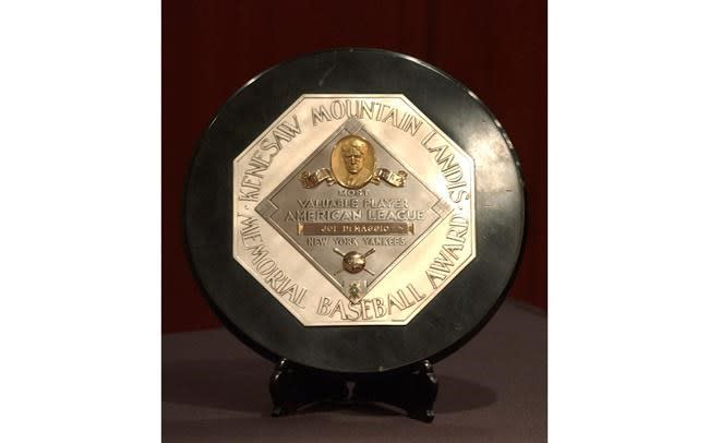 Landis' name pulled off baseball MVP plaques after 75 years