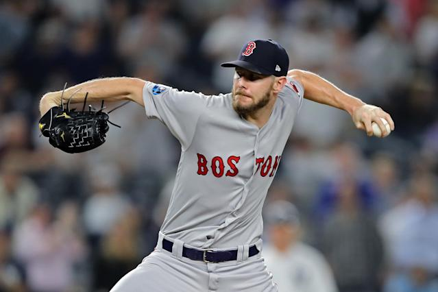 Chris Sale asked for the ball and pitched the eighth inning for the Red Sox in Game 4 vs. the Yankees. (Getty Images)
