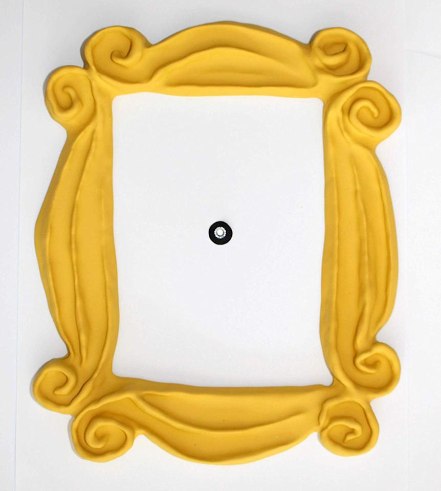 """Any <i>Friends </i>fanatic will recognize the yellow frame from Monica's apartment door because it's quite possibly one of the most iconic props from the series — and you can own it now, too. Seller 'Handmade by Fatima' sells handmade replica yellow frames for under $30 on Amazon. It's lightweight and comes with double sided tape for easy installation.  <b>Buy It! </b>Peephole Yellow Frame Replica of the Frame Seen on Monica's Door, $26.95; <a href=""""https://www.amazon.com/FRIENDS-Peephole-Replica-FRIENDS-Handmade/dp/B01NATQNKT/ref=as_li_ss_tl?ie=UTF8&linkCode=ll1&tag=polifefriendstvshowfindsawarner0919-20&linkId=d1a19a07964825e330a8f2fea60a8413&language=en_US"""">amazon.com</a>"""